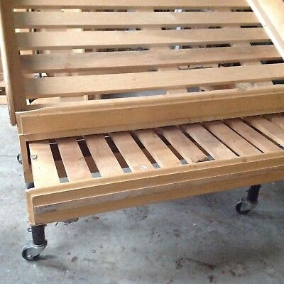 STEEL WOOD PRODUCE DISPLAY Grocery Orchard Store Wheels Tilting Adjustable MARCO
