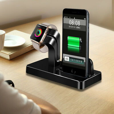 Charging Base Dock Station Cradle Charger Holder for iPhone Xs Max Xr 8 6s Plus