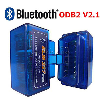 Mini ELM327 V2.1 OBD2 Bluetooth Diagnostic Car Auto Interface Car Scanner Tool