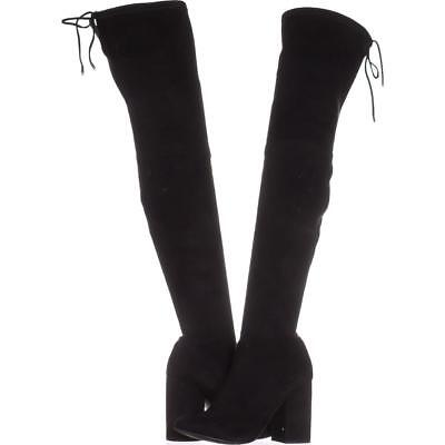 ce85acf185b STEVE MADDEN NORRI Over The Knee Boots, Black - $73.99 | PicClick