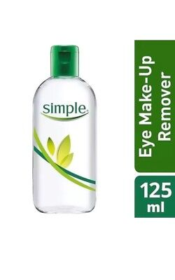 Pack Of 3 New Simple Kind To Skin Dual Effect Eye Make-Up Remover. 125ml Each