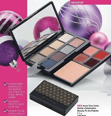 Avon True Color  Celebration Makeup To Go Palette new in box Eyeshadow Lipgloss