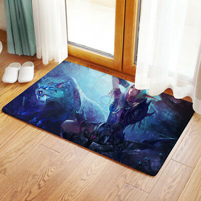 Neu Warcraft Night Elf Hunter Matte Toilette Vorleger Teppich Fußmatte 40x60CM