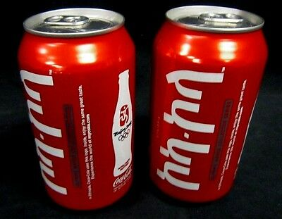 Lot of 2 Coca-Cola Coke Thailand 2008 Beijing China Olympic Can Unopened #5035