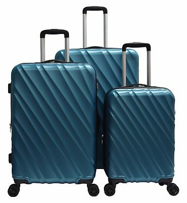 3 PCS Luggage Travel Set Bag ABS Trolley Suitcase Spinner Hardshell Lightweight