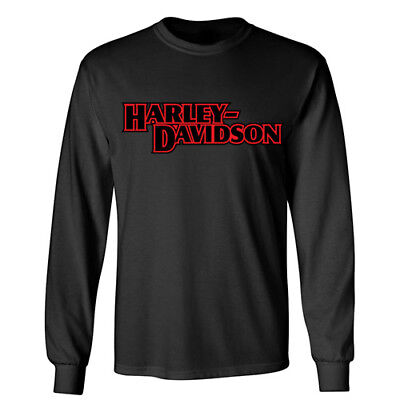 HARLEY DAVIDSON Sports Racing Motorcycle Wheels Rider Biker Long Sleeve T-Shirt