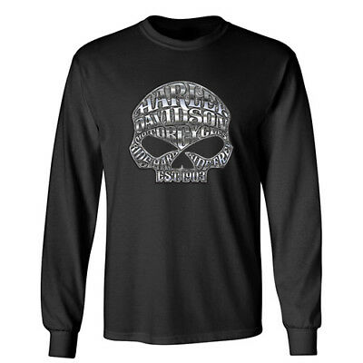 HARLEY DAVIDSON HD Sports Motorcycle Biker Wheels Racing Long Sleeve T-Shirt