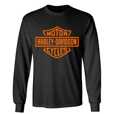 HARLEY DAVIDSON Motorcycle Rider Wheels Sports Racing Biker Long Sleeve T-Shirt