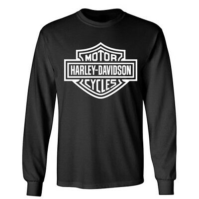 HARLEY DAVIDSON Motorcycle Racing Wheels Sports Rider Biker Long Sleeve T-Shirt