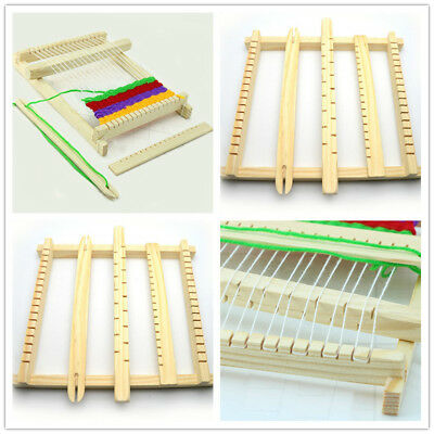 1PC Weaving Loom Kids Toy Wooden Craft Traditional Hand Pretend Play Knitting CB