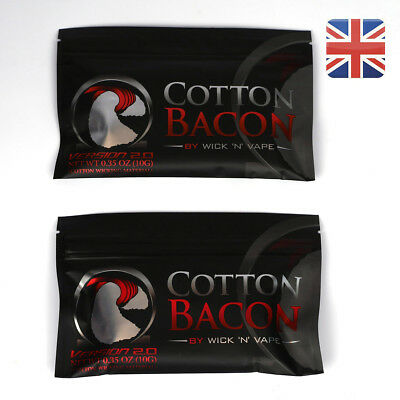 Pack of 2 Cotton Bacon V2 By Wick N Vape Wicking Material Tasteless DIY