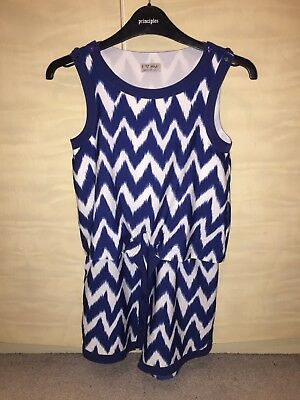 Girls Next Blue and White Playsuit Age 10 years In great condition