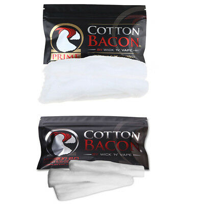 Cotton Bacon V2 & PRIME By Wick 'N' Vape Organic Wicking Material Tasteless