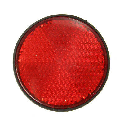 "2Pcs 2"" Rear Red Round Reflectors Plastic For Motorcycles ATV Bikes Dirt Bikes"