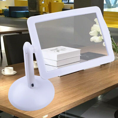 Handsfree Rotating 3X Magnifier 2-LED Table Lights Magnifying Glass Desktop Lamp