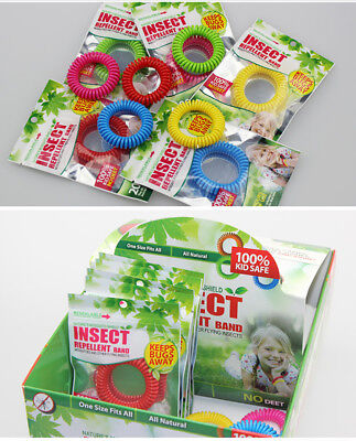 5Pcs Anti Mosquito Insect Repellent Wrist Hair Band Bracelet Bug Camping New SV6