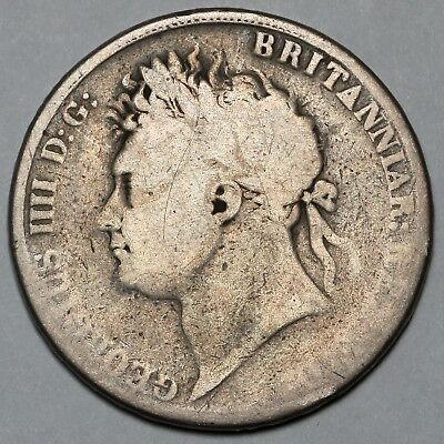 1821 King George Iv Iiii Great Britain Silver Crown Coin