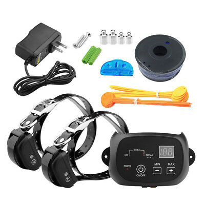 Electric Dog Fence 2 Wireless Collar Waterproof Pet Training Exerciser