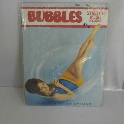 Vintage 1960s stretch mesh nylon stockings, Bubbles, great display piece