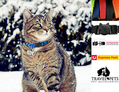 Adjustable Cat Collar Pet Kitten Animal Fun Bright Safe Bell Quick Release New