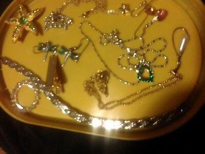 Job Lot of Costume Jewellery, Mixed Items including real silver