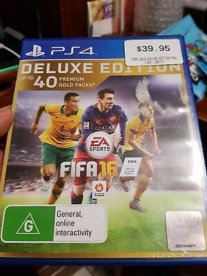 Fifa 16 Deluxe Edition (BRAND NEW NOT SEALED) -  for PS4 - FREE POST