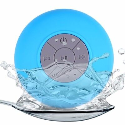 Bluetooth Waterproof Shower SpeakerWireless Music Box Hands-Free w/ Suction Cup