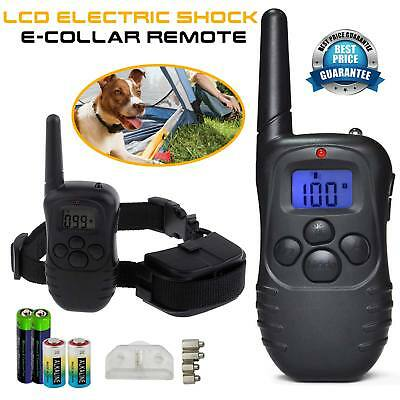 Electric Shock Dog Training Pet Collar LCD Display Remote Control For All Pets