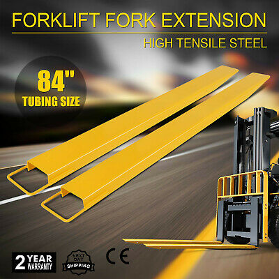 "84x5.5"" Forklift Pallet Fork Extensions Pair 2 Thickness Industrial Lifts Trucks"