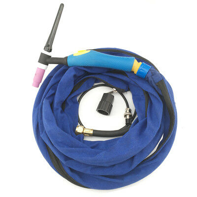 150Amp TIG Torch WP-17F Flexible Neck 12.5Feet 4M Welding Burner Cable M16-2Pin