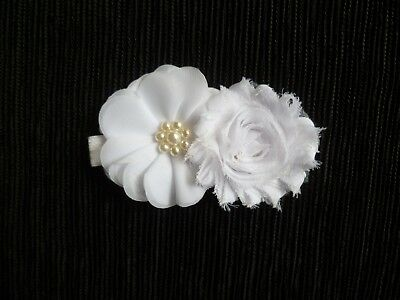 Baby clothes GIRL premature/tiny<5lb/2.3k white headband special occasion weddin