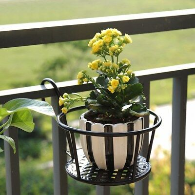 Metal Wall Hanging Storage Stand Garden Basket Flower Plant Pots Shelf Holder