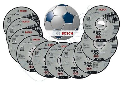 "10 x BOSCH 125mm (5"") Thin Slit 1.0mm Inox Cutting Discs FOOTBALL LTD EDITION"