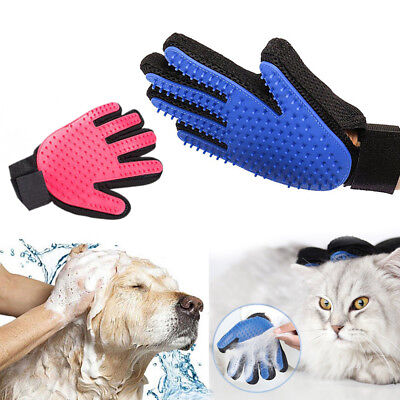 Cat Dog Bath Grooming Washing Clean Massage Glove Fur Cleaning Pet Hair Brush