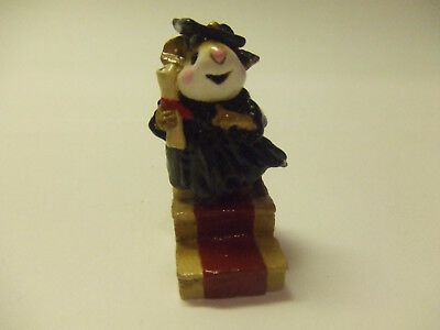 Wee Forest Folk A.p. 1989 Graduate Mouse  Pre Owend  Mint