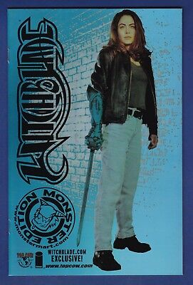 Witchblade : Movie Edition #1 Holofoil Monster Mart Variant cover 2000  Image