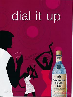 Print Ad~2004~Seagram's Extra Dry Gin~Dial it Up~Advertisement~H400