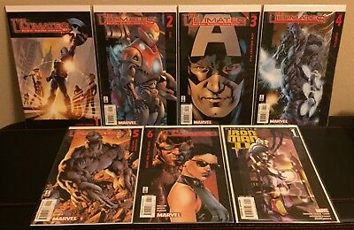 The Ultimates 1 2 3 4 5 & 6 / Ultimate Iron Man Ii 1 - Marvel - Lot - Avengers