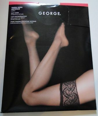 2 George Thigh High Legwear Brand New In Package (Pick Size and Color)