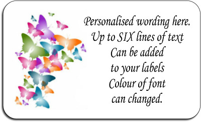 Colourful Butterflies Personalised Labels with FREE protective wallet