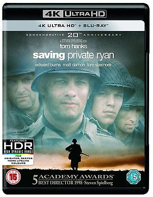 SAVING PRIVATE RYAN Blu Ray 4K Ultra HD NEW BLU-RAY Region Free