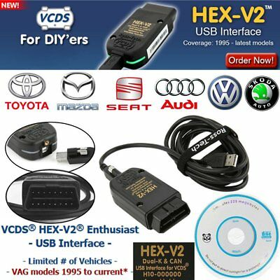 VCDS HEX-V2 Enthusiast USB Interface Auto Diagnostic For VAG models 1995-2017 FA