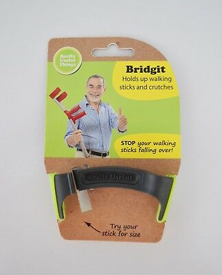 Bridgit Crutch Walking Stick Holder, Prevents the Need to Bend Down.