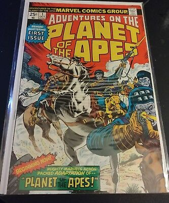 ADVENTURES ON THE PLANET OF THE APES No.1 Marvel 1975 VF+ SciFi Movie Adaptation