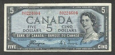 1954 DEVIL'S FACE $5.00 BC-31a F-VF * Very SCARCE Bank of Canada DF Five Dollars