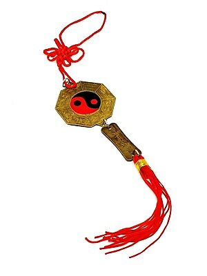 Bagua Mirror Blessed Window Charm Yin Yang Chinese Exorcism Amulet Feng Shui
