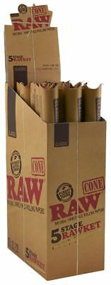 Raw 5 Stage Rawket Pre Rolled Cones - 5 Cones in 5 Sizes