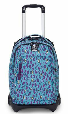 Zaino Trolley Scuola Invicta Plug Plus Lake Green Nuovo Staccabile