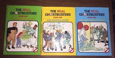 3 The Real Ghostbusters Pop-up Books Collection