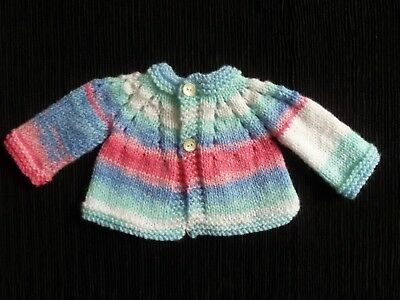 Baby clothes GIRL premature/tiny<5lbs/2.3kg cute pink/white/blues soft cardigan